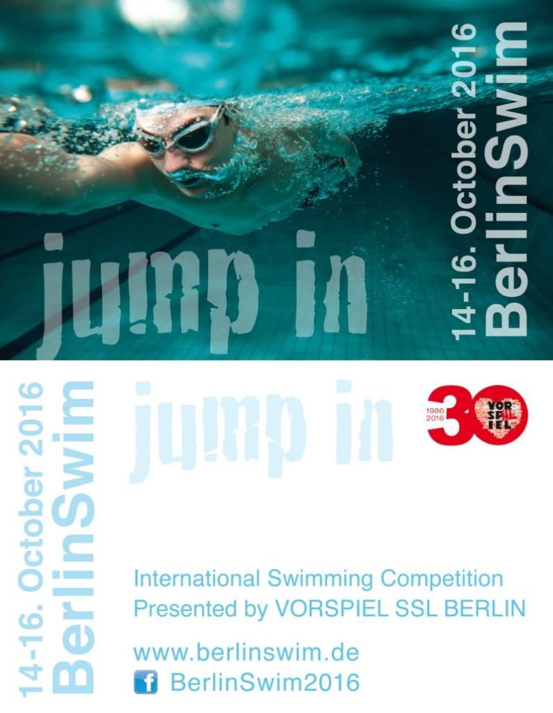 BerlinSwim 2016 - Jump In: International Swimming Competition presented by Vorspiel SSL Berlin, October 14-16, 2016