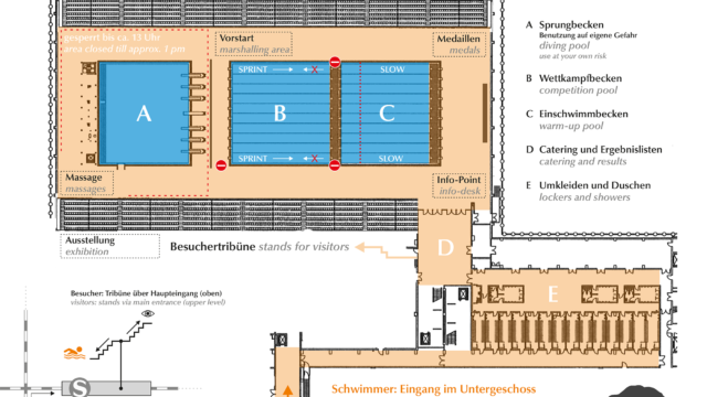 BerlinSwim2016 map of the aquatics center SSE